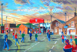 bootham crescent going to the match print